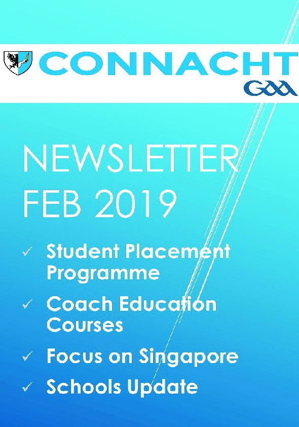 Connacht GAA Newsletter for February Published